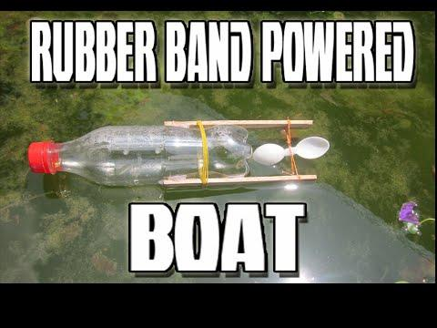 Embedded thumbnail for How to make rubber band powered BOAT