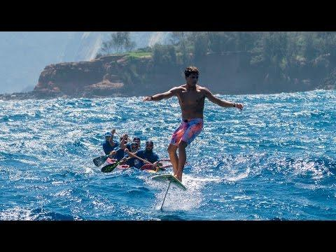 Embedded thumbnail for Kai Lenny crosses the Hawaiian Islands on hydrofoils